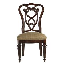 City Club-Racket Club Scroll Side Chair