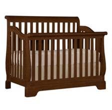 Built To Grow Sleigh Crib -Cherry-Antique