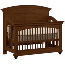 Built To Grow Laurels Crib -Cherry-Antique